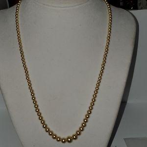 """Vintage Faux pearl necklace 18"""" long"""